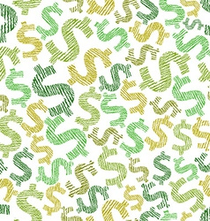 Dollar seamless pattern economy and money theme vector