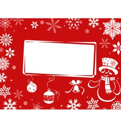 Christmas greeting card in red shades vector