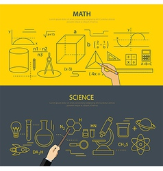 Math and science education concept vector
