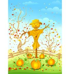 Funny scarecrow vector