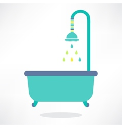 Bathroom shower icon vector