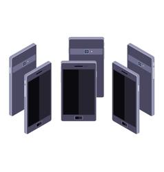 Isometric generic black smartphone vector