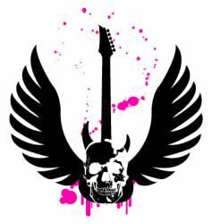 Skull guitar vector