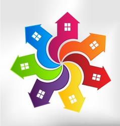 Houses logo design element vector