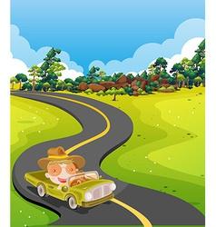 Car trip vector