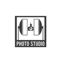 Photo studio design template vector