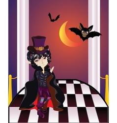 Vampire on balcony2 vector