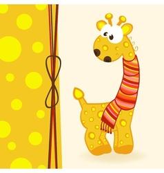 Giraffe with scarf vector