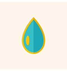 Water flat icon vector