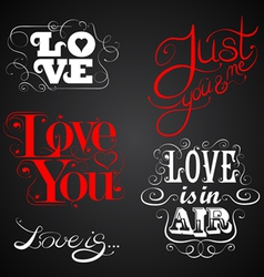Love custom handmade calligraphy vector