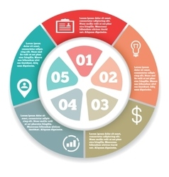 Business circle infographic diagram presentation vector