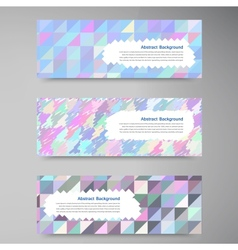 Wed banners set color elemet and square vector