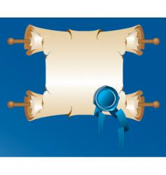 Old-time scroll vector