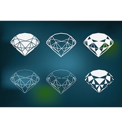 New diamond set vector