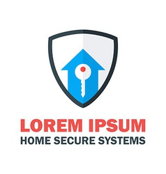 Home security system logo vector