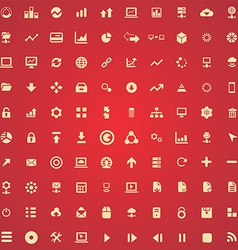 100 big data database icons vector