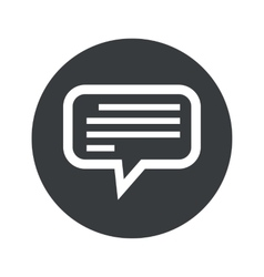Monochrome round text message icon vector