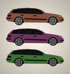 Flat family car 1 vector