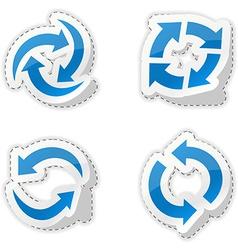 Arrow blue stickers vector