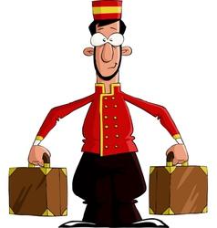 Luggage porter vector