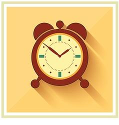 Alarm clock flat icon vector