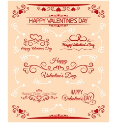 Beautiful inscriptions for valentines day vector