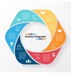 Circle infographic template for diagram business vector