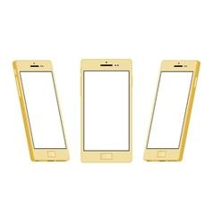 Generic gold smartphone vector