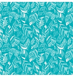 Colorful floral seamless pattern with leaves and vector