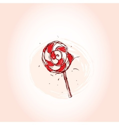 Lollipop hand drawn sketch on pink background vector