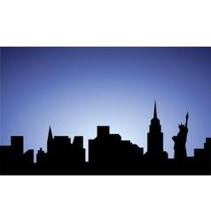 Silhouette of new-york city usa vector