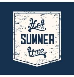 Hot summer time calligraphic handwritten vector