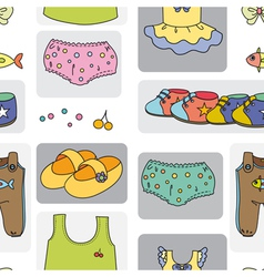 Kidswear pattern background vector