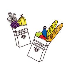A pair of baguette vector