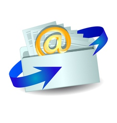 Envelope with an email vector