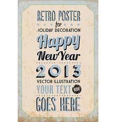 Retro vintage happy new year background vector
