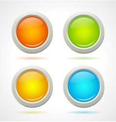 Shine colorful buttons template vector