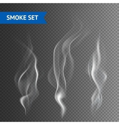 Smoke transparent background vector
