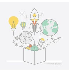 Business plan idea concept outline icons vector