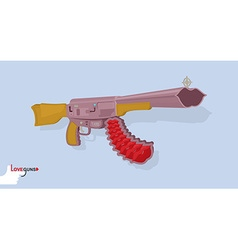 Love gun arms cupids vector