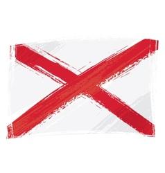 Grunge alabama flag vector