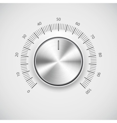 Modern volume knob button vector