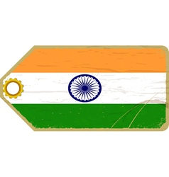 Vintage label with the flag of india vector