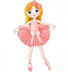 Cute ballerina vector