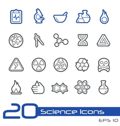 Science outline series vector