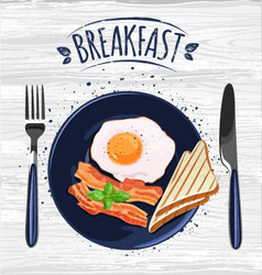 Breakfast poster vector
