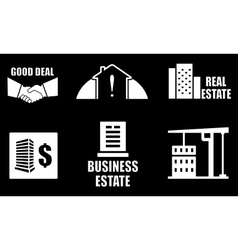 Real estate industry icons set vector