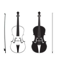 Violin silhouette3 vector
