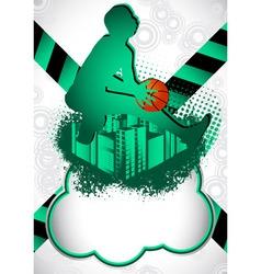 Basketball summer background vector