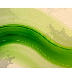Retro vintage green wave abstract background vector